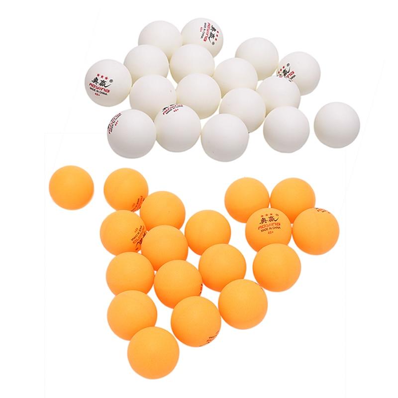30 Pcs 3-Star 40mm 2.8g Table Tennis Balls White Yellow Pingpong Training Ball