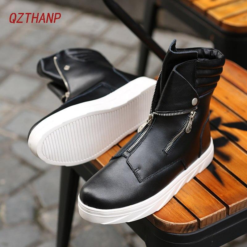 Mens Boots Leather Popular Trend Sneakers Luxury Casual Shoes Botas Hombre Tenis Ayakkabi Ankle Boots Schuhe Zapatos De Hombre