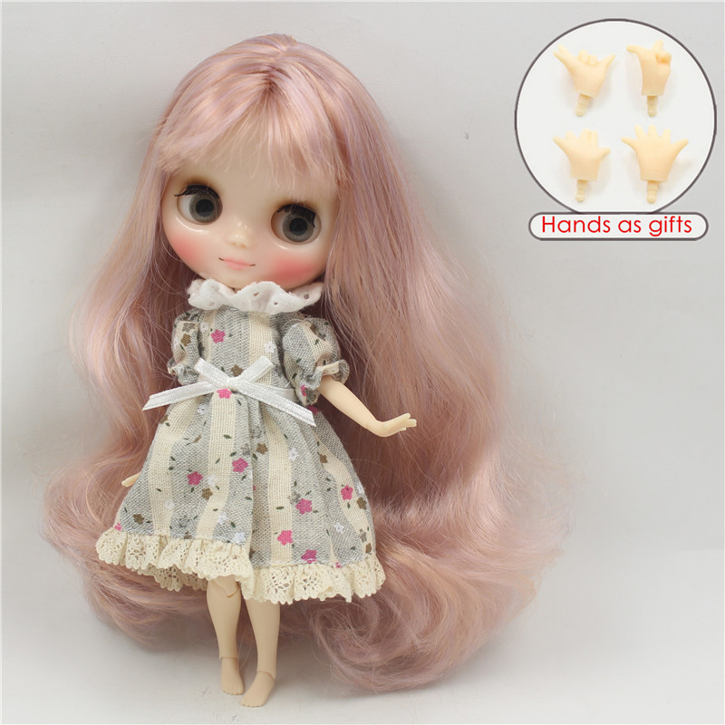 Free shipping middie doll 2240 1049 Rose golden mix Purple hair joint body 1 8 20cm