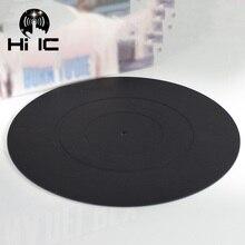 12 인치 lp 실리콘 패드 고무 매트 축음기 턴테이블 비닐 두께 2mm 플랫 소프트 매트에 대 한 정전기 방지 레코드 매트