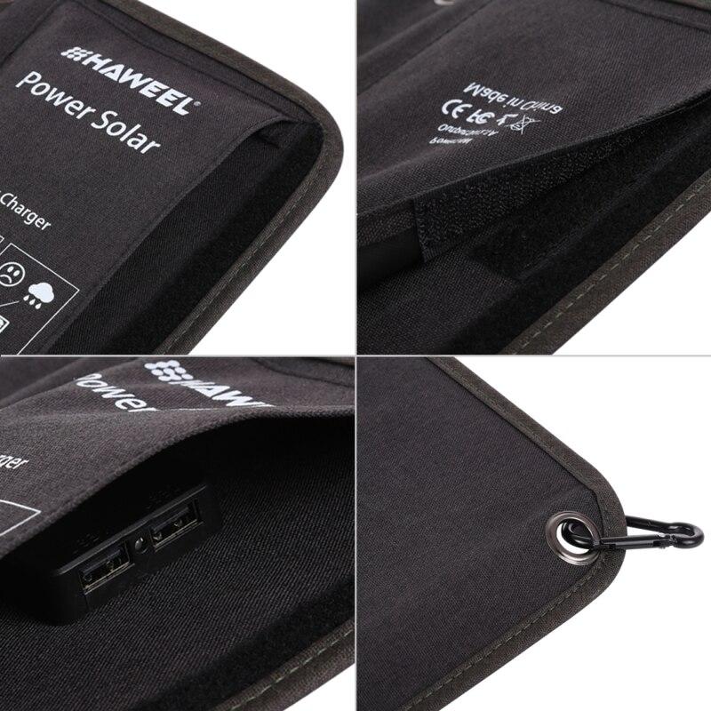 HAWEEL 4 panneau solaire 28 W chargeur solaire pliable extérieur secours Portable alimentation de secours 5 V/2.9A Max 2 Ports USB pour téléphone - 4