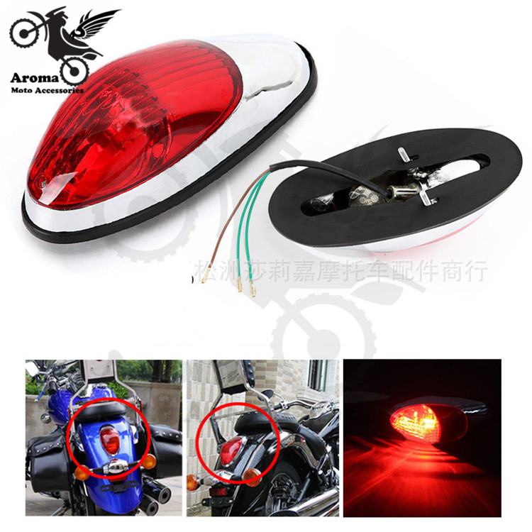 Brand Scooter Rear Indicator Motorbike Brake Light Moto For Harley Prince Honda Shadow VLX 400 Magna 250 Motorcycle Tail Light