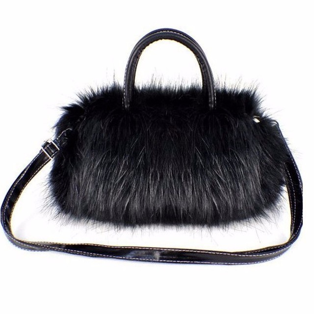 Luxury Handbags Women Bag Designer Faux Rabbit Fur Brand Female Mini Messenger  Bag Winter Ladies Crossbody Tote Bags Hangbag New f7db510055f8e