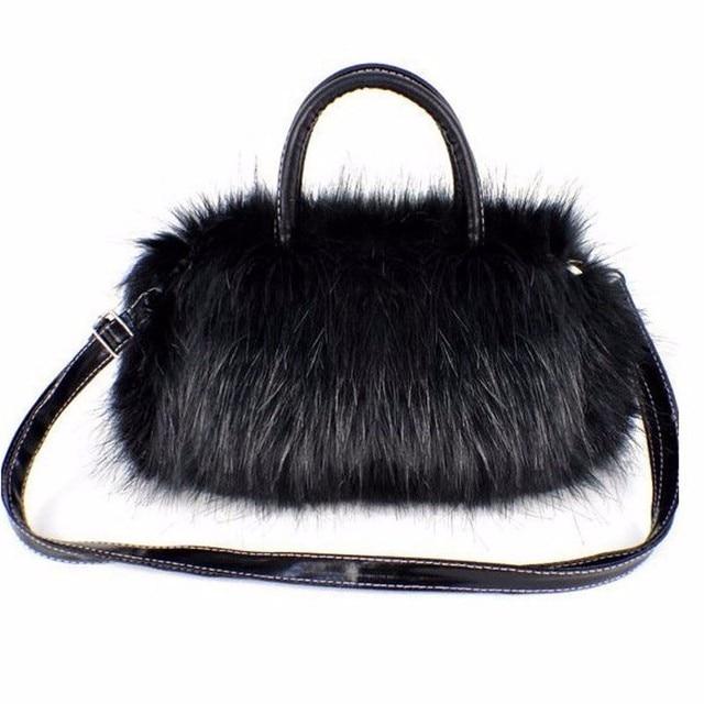 Luxury Handbags Women Bag Designer Faux Rabbit Fur Brand Female Mini Messenger  Bag Winter Ladies Crossbody 435e8a45f5b41