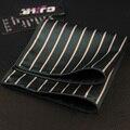 Mantieqingway Hot Sale Mens Lenços de Bolso Quadrado Do Casamento Clássico Business Casual Tarja Lenços Impresso Lenço Toalha Peito