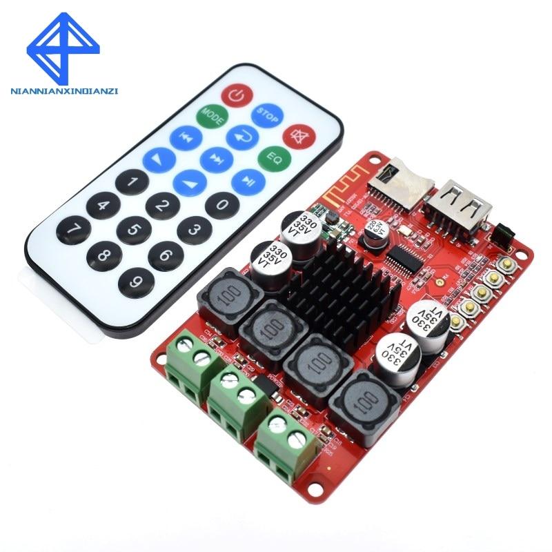 TPA3116 50W+50W Bluetooth Receiver Digital Audio Amplifier Board TF card U disk player FM Redio With Remote controlTPA3116 50W+50W Bluetooth Receiver Digital Audio Amplifier Board TF card U disk player FM Redio With Remote control