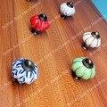 Dia.34mm Тыквы Цветные керамические ручки Синий цвет Одно Отверстие ручка сплава Цинка Кухонная Мебель ручка ящика тянет