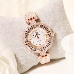 Высокое качество дамы кварцевый механизм часы Круглый циферблат маленькая цепь женские часы высокого класса цепочка под заказ часы