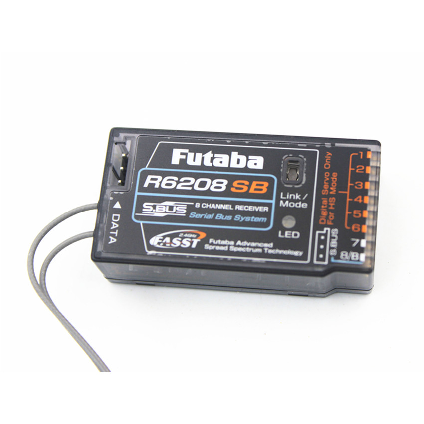 Futaba Original R6208SB 8 canales 2,4 GHz FASST alto voltaje Rx 8FG Super receptor para juguete eléctrico de control remoto aérea modelo-in Partes y accesorios from Juguetes y pasatiempos    3