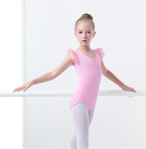 f64e6dd0e Girls Toddler Ballet Leotards Fluffy Tulle Shoulder Ballet Dance ...