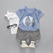 цена на New Kids Suit 2 Pcs Baby Clothing Sets Summer Short Sleeve T-shirts Tops+Pants Kids Boys Clothes Outfits Children Suit