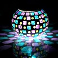 Special Handmade Colorful LED Mosaic Solar Light Magic Sunshine RGB Changing Night Light, Lovely Table Lamps Decoration Lighting
