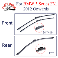 Combo Silicone Rubber Front And Rear Wiper Blades For BMW X3 F31 2012 Onwards Windscreen Wipers