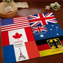 American Flag Carpet on the Floor US British Floot Mats Canada Germany Australia France Fleece Kitchen Bedroom Area Rugs