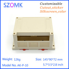 1 psc sszomk abc material high switch sticker plastic din rail housing pcb  junction box for electronics 145*90*72mm