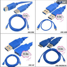 USB3.0 high speed print line extension cable mobile hard disk computer phone high speed transmission data line high speed cable