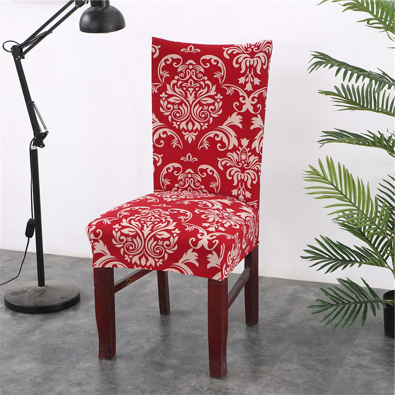 Floral Printing Chair Covers Spandex For Wedding Dining