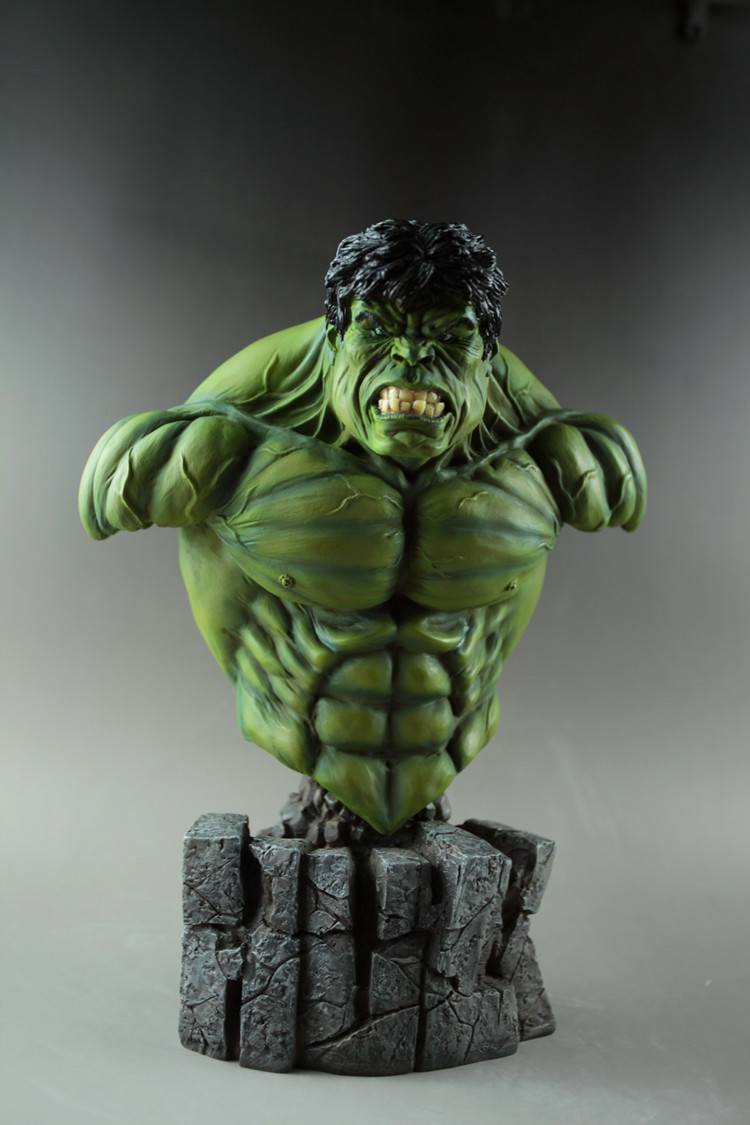 High Quality Avengers Superhero Hulk 1:4 Bust Robert Bruce Banner Head Portrait Resin Action Figure statue avengers superhero hulk 1 4 bust robert bruce banner full length portrait resin imitation iron collectible model toy w248