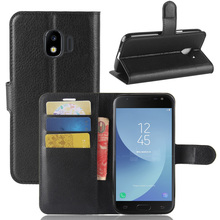 купить For Samsung Galaxy J2 Pro 2018 J250F Luxury PU Leather Wallet Case With Card Slot Holder Flip Case Back Stand Shockproof Cover дешево
