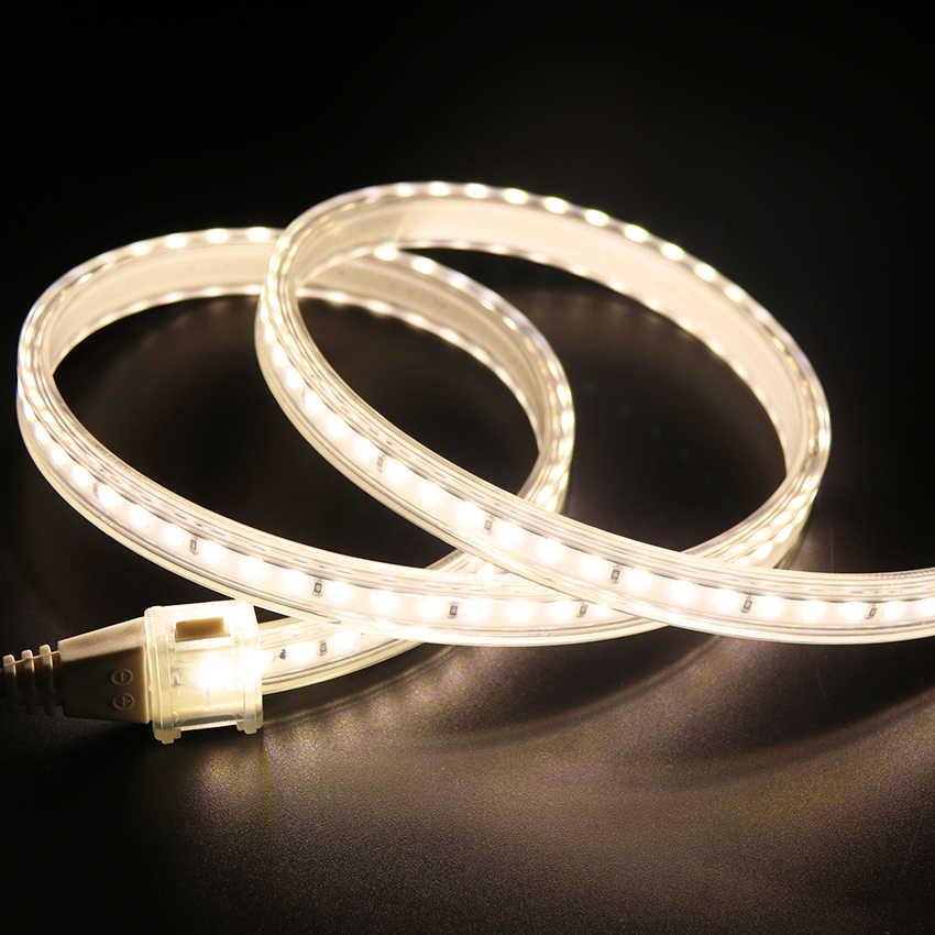 LED Strip 220V 240V SMD 2835 Tahan Air Fleksibel Pita LED 120 LED/M Neon Cahaya Dingin Putih /Natural White/Warm Tidak Ada Timbal