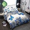 HELENGILI 3D Bedding Set Flowers butterflies Print Duvet cover set bedclothes with pillowcase bed set home Textiles #XH-02