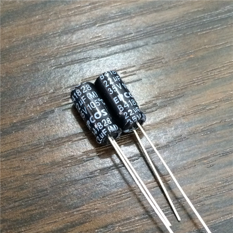 10pcs 22uF 35V EPCOS B41828 Series 5x11mm 35V22uF Aluminum Electrolytic Capacitor