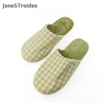 Winter Home Women's Slipper Cotton Plaid Anti Slip Flip Flops Plush Liner High Quality Warm Slippers Fashion Woman Indoor Shoes
