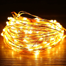 5M / 10M LED holiday light Waterproof Battery Operated USB Copper Wire String Fairy Light Strip Lamp Xmas Home Party