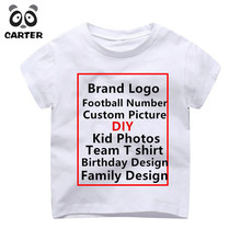 купить Children Custom T Shirt Kid Print Brand Logo Print T-shirts Baby Birthday T Shirt Kids T-shirts Boys&Girls DIY Tee по цене 460.65 рублей