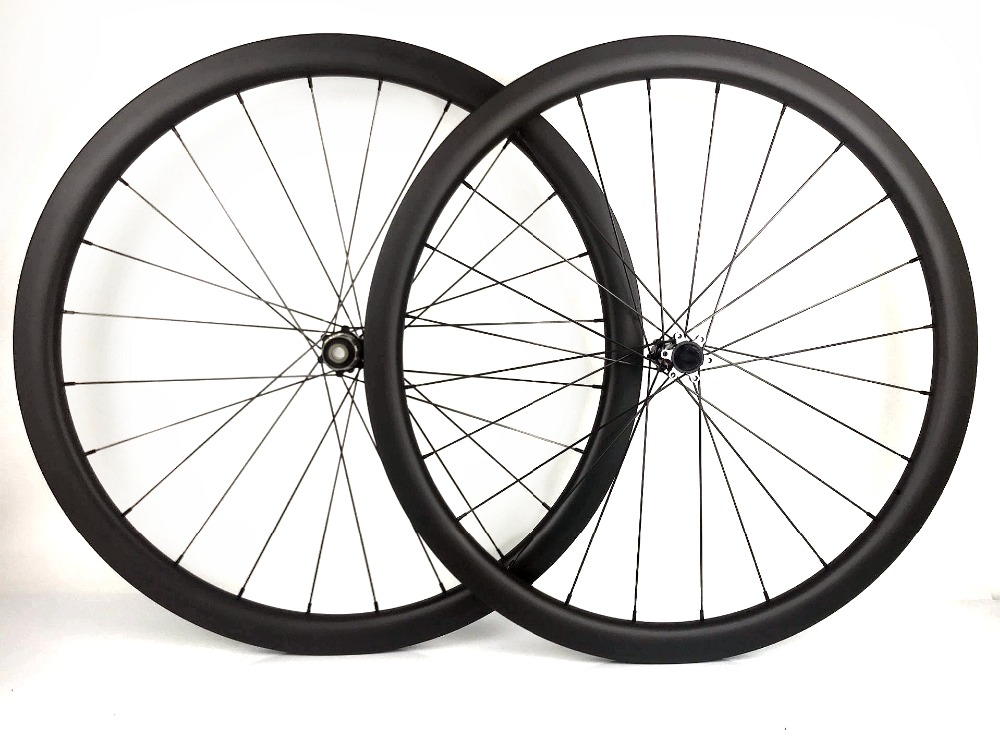 700C Road disc barke wheelset 38mm depth tubeless carbon rims 25mm width disc cyclocross bike carbon