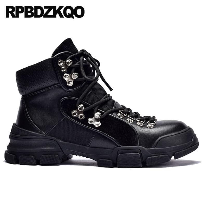 Mujeres Frente Genuino Militares Tobillo Cuero Otoño Botas Combate Negro Zapatos Dedo 2018 Encaje Negro Del Casual De Corto Redondo gris Pie vq7t1wI