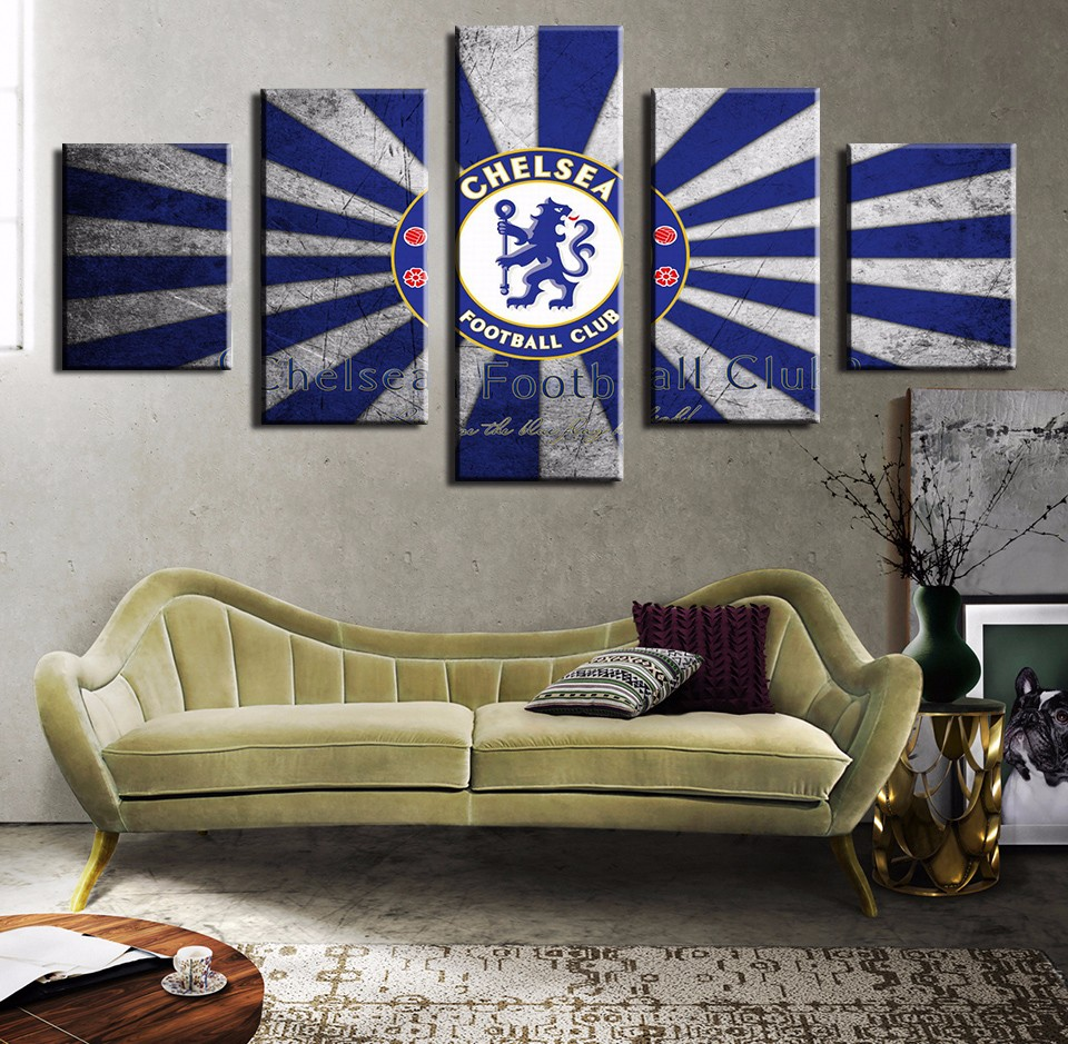 Art On Canvas Modern Home Decoration Living Room Deco Posters Background Paintings Baseball Chelsea Football Club Logo Letters In Painting Calligraphy