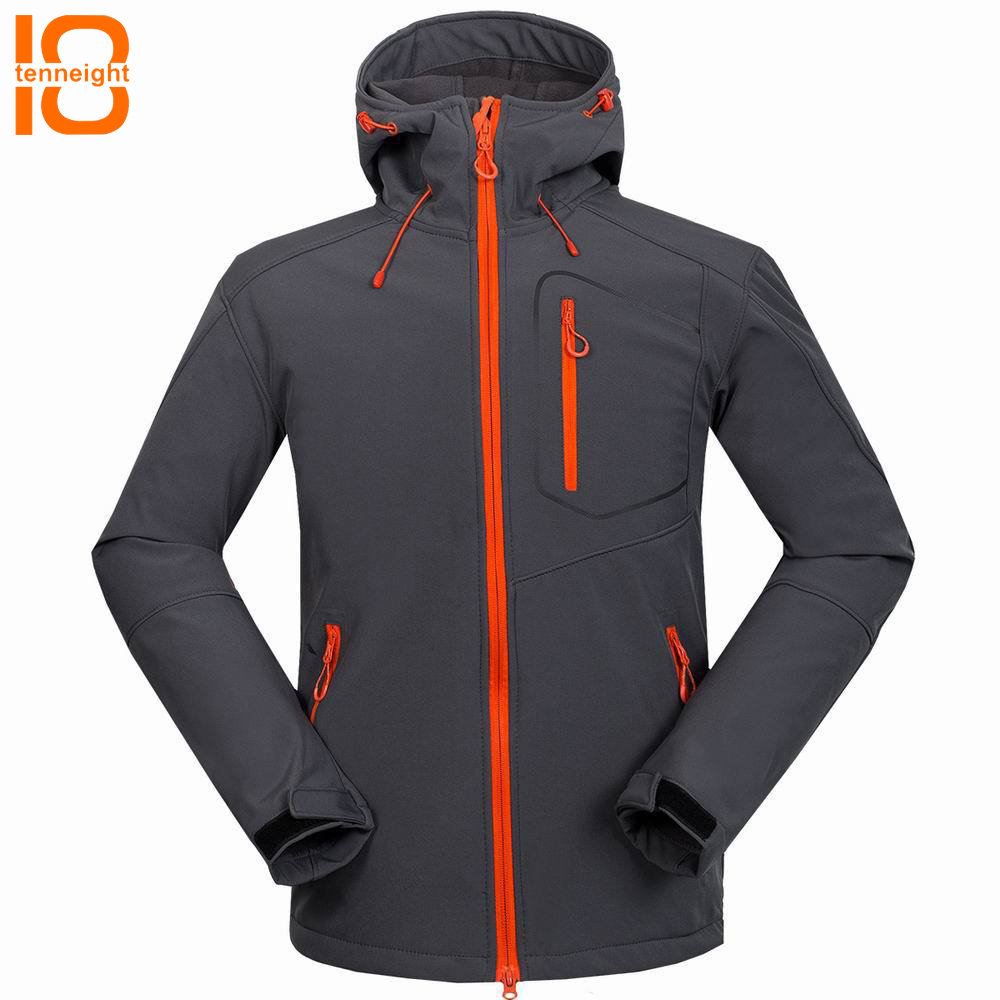 TENNEIGHT Men's Softshell Jacket Windproof sport Windbreaker men Outdoor Climbing Ski Jackets Thick Winter Coats Camping Hunting winter men jacket new brand high quality candy color warmth mens jackets and coats thick parka men outwear xxxl