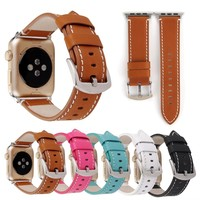 Luxury Real Leather Watch Band For Apple Watch IWatch Series 1 2 3 Strap Cowhide Genuine