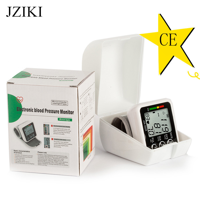 2016 New Health Care Germany Chip Automatic Wrist Digital Blood Pressure Monitor Tonometer Meter for Measuring And Pulse Rate