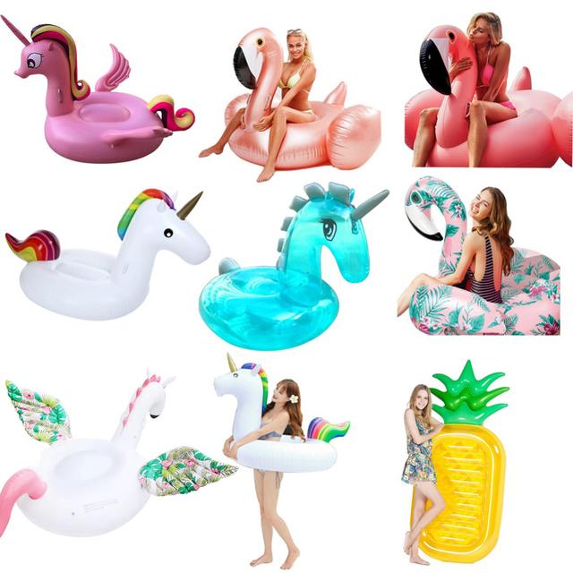 Hot Sale Inflatable Flamingo unicorn Swimming Float Tube Raft Adult Giant pool Float Swimming Ring Summer Pool Toys