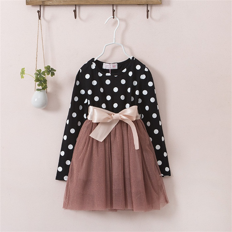 2018 Fashion Baby Dress Long Sleeve Pirncess Girls Clothes Autumn Winter  Children Dresses For Girl Polka Dot Clothing Vestidos-in Dresses from  Mother   Kids ... a2c1554caf53