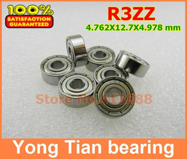 50pcs High Quality ABEC-5 Z2V2 R3ZZ  3/16 x1 /2 x 0.196 inch 4.762x12.70x4.978 mm mini shielded ball bearing chaoyang 16 2 50 16 2 5 16x2 50