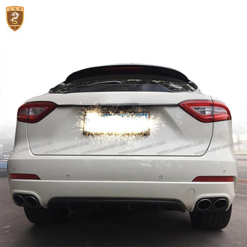 7pcs/set Carbon Fiber Body Kits Spoiler Front Lip Rear Diffuser Fit For Maserati Levante Car Styling Auto Modified Accessories