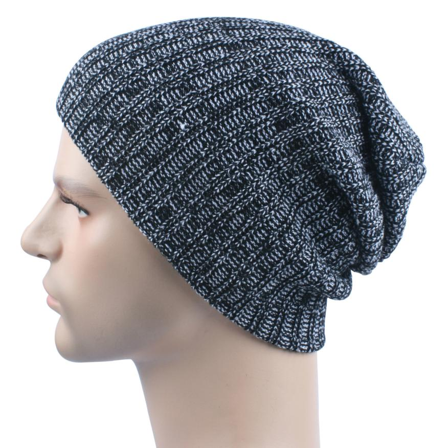 New Men Women Baggy Warm Crochet Winter Wool Knit Ski Beanie Skull Slouchy Caps Hat Gorros Mujer Dec6 2017 winter women beanie skullies men hiphop hats knitted hat baggy crochet cap bonnets femme en laine homme gorros de lana