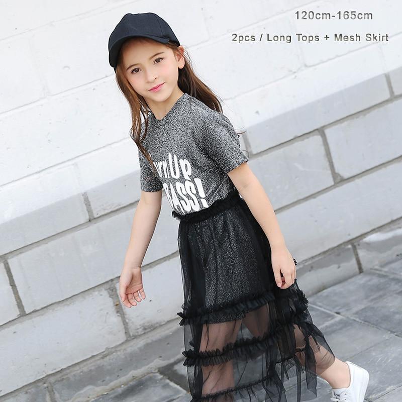 db277c369 Maquillaje ropa para adolescentes niñas 2 piezas conjunto largo T camisa  chica vestido de los niños