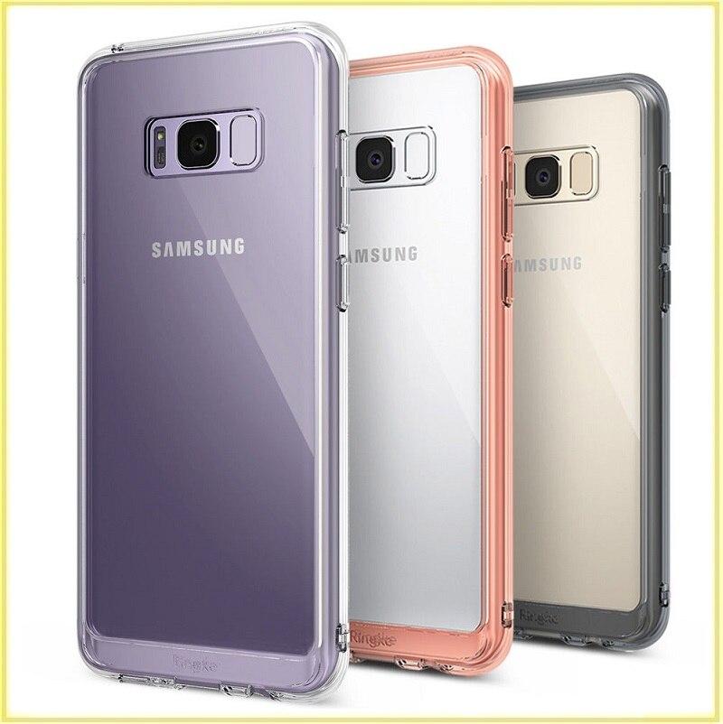 imágenes para Para la caja del teléfono samsung galaxy s8 100% original ringke fusión cristal tpu cubierta a prueba de golpes para galaxy s8 más