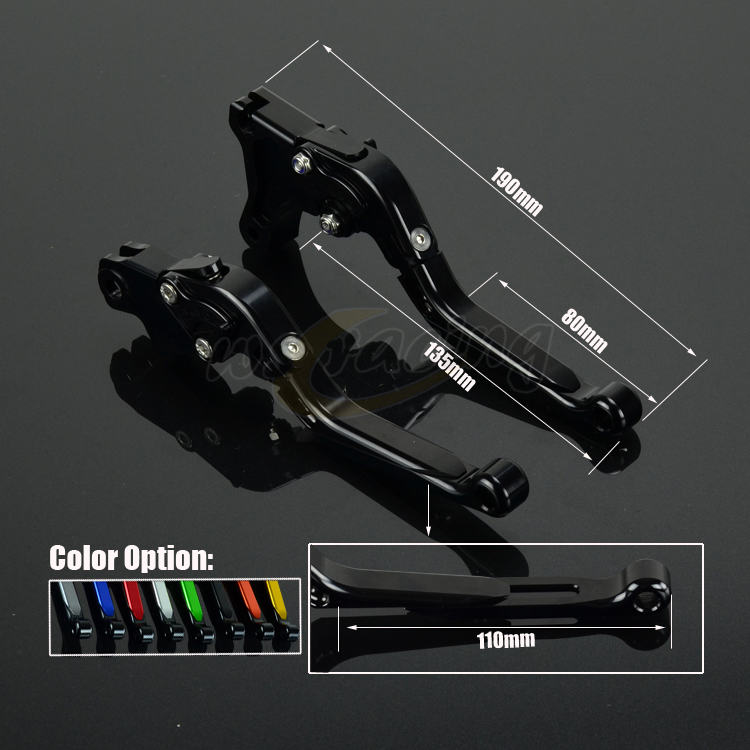 CNC Adjustable Motorcycle Billet Foldable Pivot Extendable Clutch & Brake Lever For TRIUMPH 675 STREET TRIPLE R/RX 2009-2016 cnc adjustable motorcycle billet foldable pivot extendable clutch
