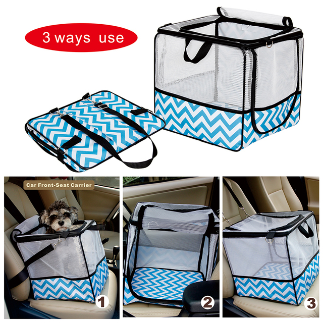 Pets Carrie Bag For Travel Cooling Foldable Car Seat Safety Carrier ...