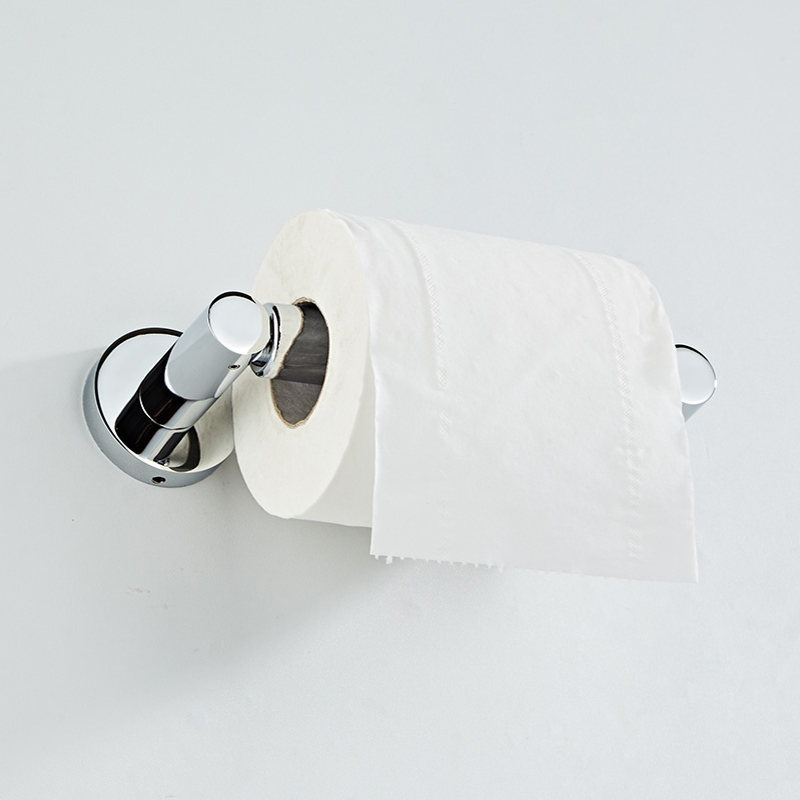 SRJ 304 Stainless Steel Stretch Round Toilet Paper Holder Household Bathroom Kitchen Roll Holder Hardware Tool