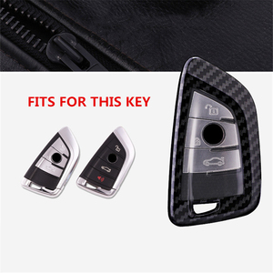 Image 2 - Carbon fiber+PC Car Key Case Cover for Bmw New X1 X5 X6 2 5 7 Series 2014 2016 360° Protection Waterproof Keychain Accessories