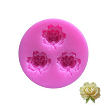 SEAAN 3D Silicone Molds Rose Flower Sugarcraft Fondant Mold Cake Decorating Tools Chocolate Gumpaste