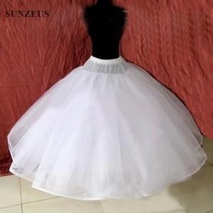 Image 4 - Hoopless 8 Layers Hard Tulle Wedding Petticoats Luxury Princess Quinceanera Dresses Underskirt Long Crinoline Tulle S40