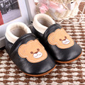 Cartoon Bear Baby Moccasins Genuine Leather First Walkers Bebe newborn Non-slip Indoor baby shoes Free shipping