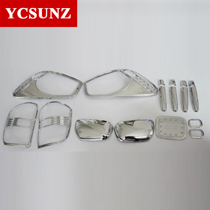 For TOYOTA RAV4 Accessories ABS Car-Styling Chrome Kit Full Set For TOYOTA RAV4 2001 2002 2003 2004 Decoration Products Ycsunz